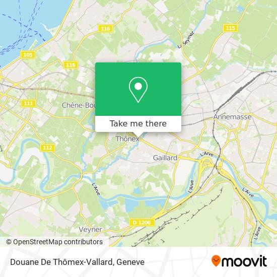 Douane De Thômex-Vallard map
