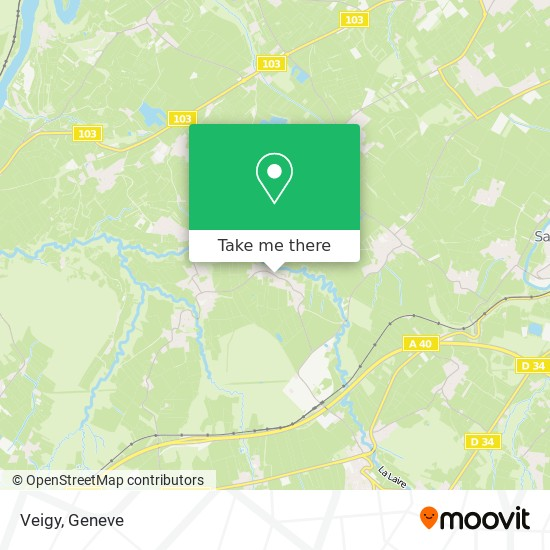 Veigy map