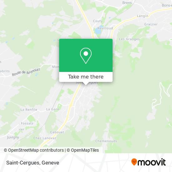 Saint-Cergues map