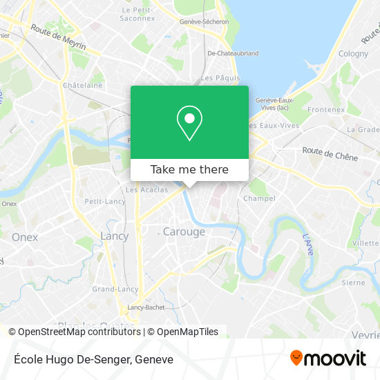 École Hugo De-Senger map