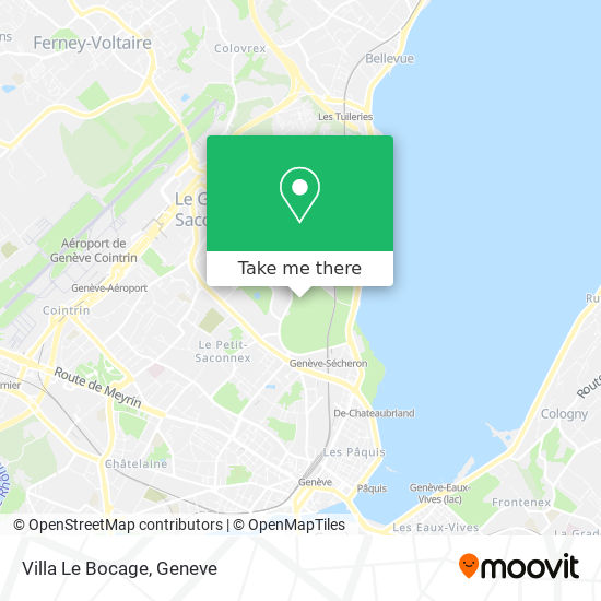 Villa Le Bocage map