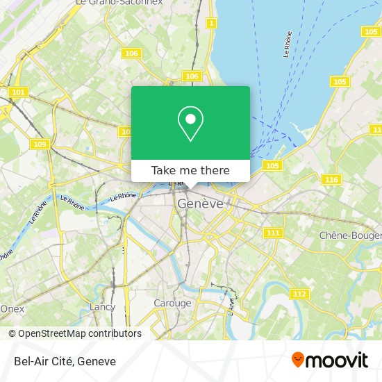 Bel-Air Cité map
