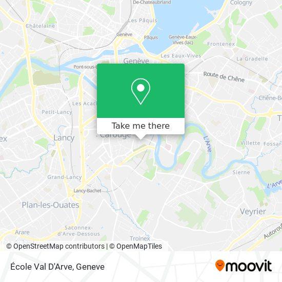 Ecole Val D'Arve map