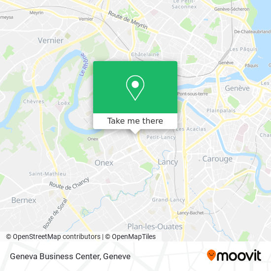 Geneva Business Center map