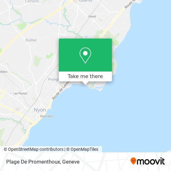 Plage De Promenthoux map