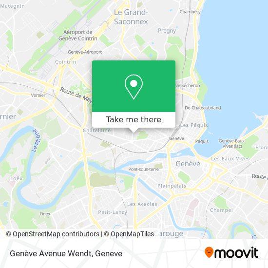 Genève Avenue Wendt map