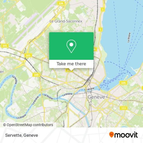 Servette map