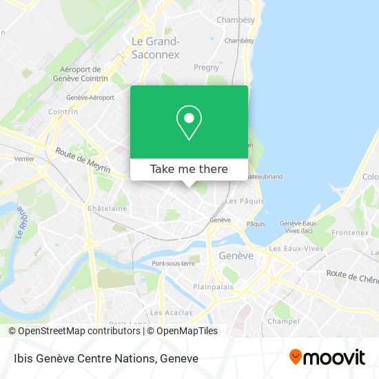 Ibis Geneve Centre Nations map