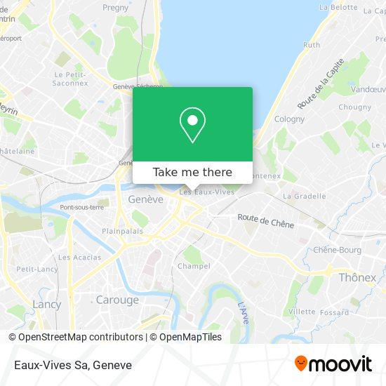 Eaux-Vives Sa map
