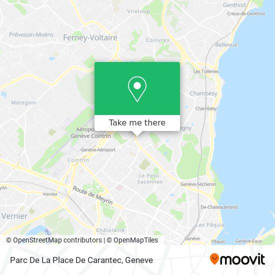 Parc De La Place De Carantec map