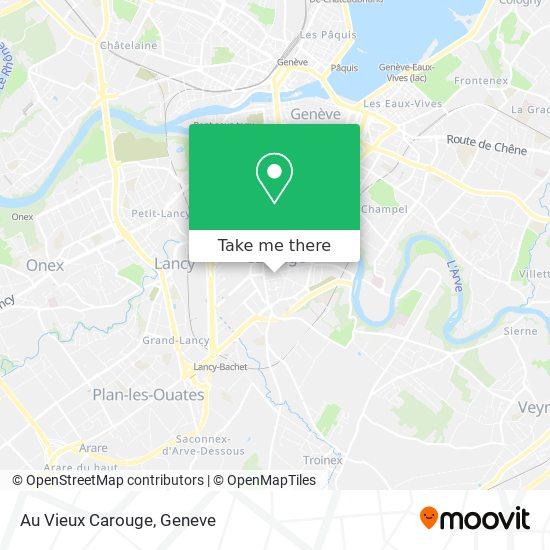 Au Vieux Carouge map