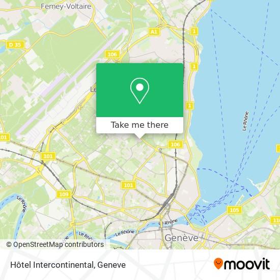 Hôtel Intercontinental Karte