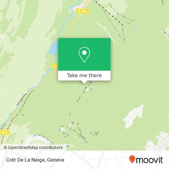 Crêt De La Neige map
