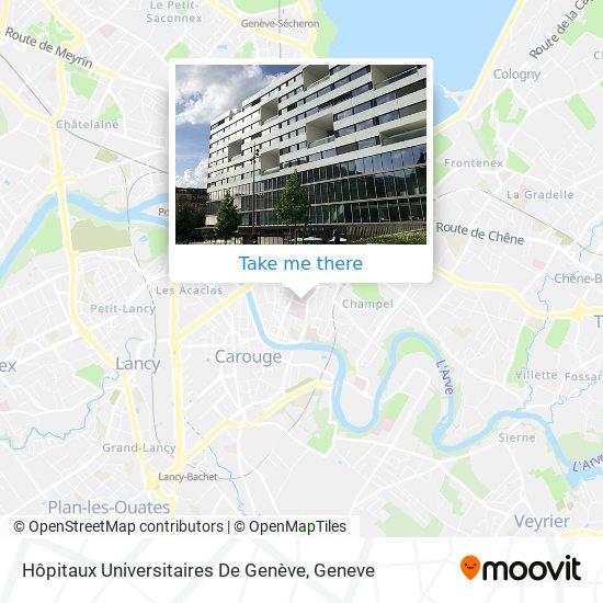 Hôpitaux Universitaires De Genève (Hug) map