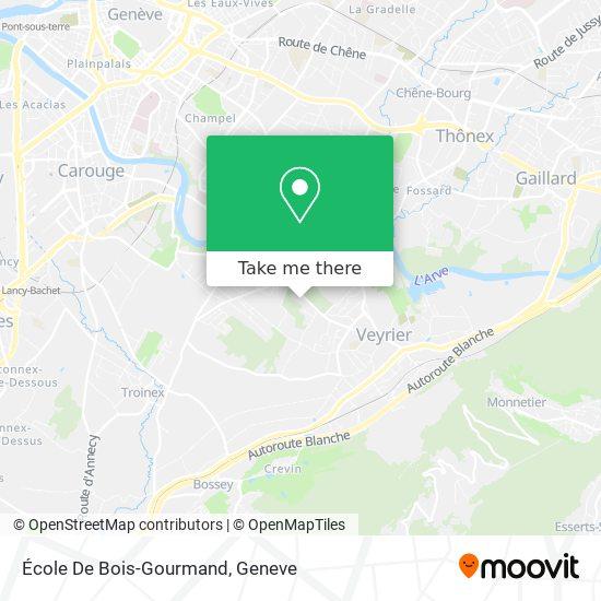 École De Bois-Gourmand map