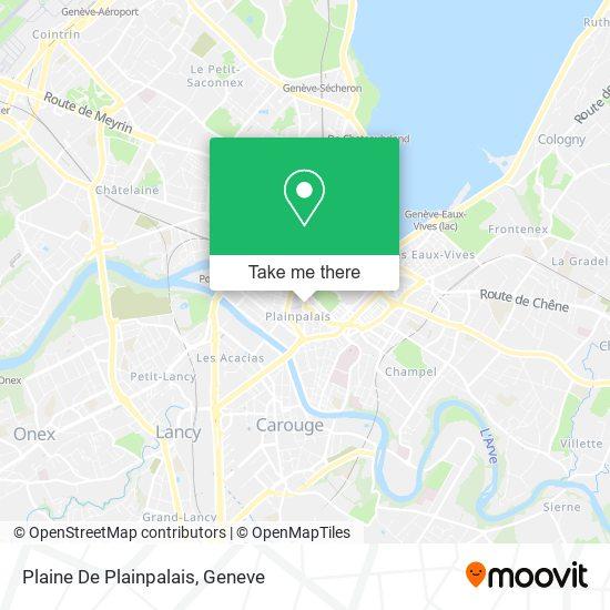 Plaine De Plainpalais map