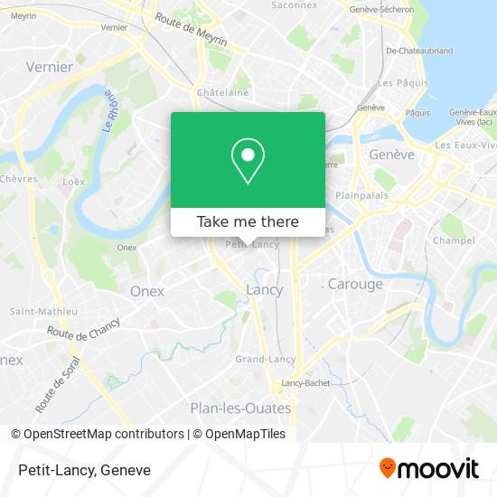 Petit-Lancy map