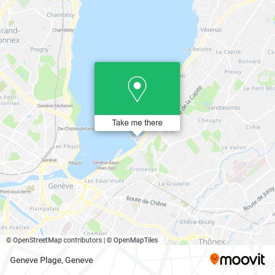 Geneve Plage map