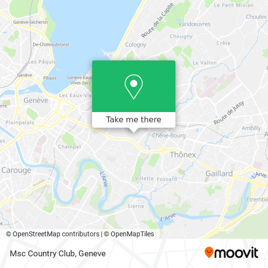 Msc Country Club map