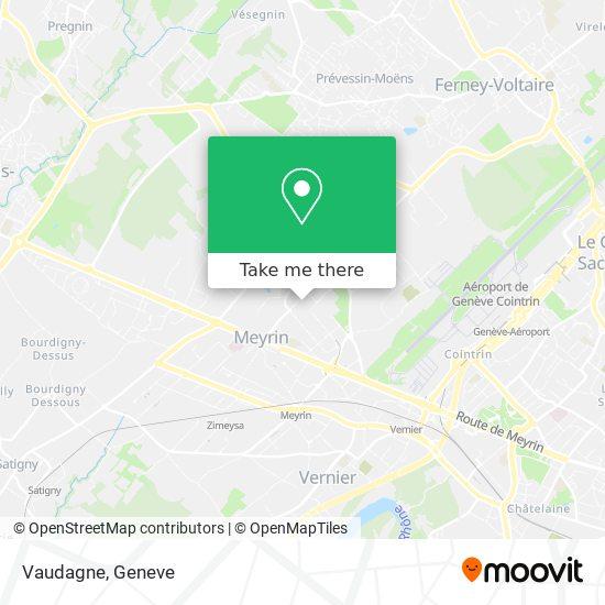 Vaudagne map