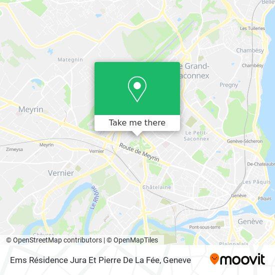 Ems Résidence Jura Et Pierre De La Fée map