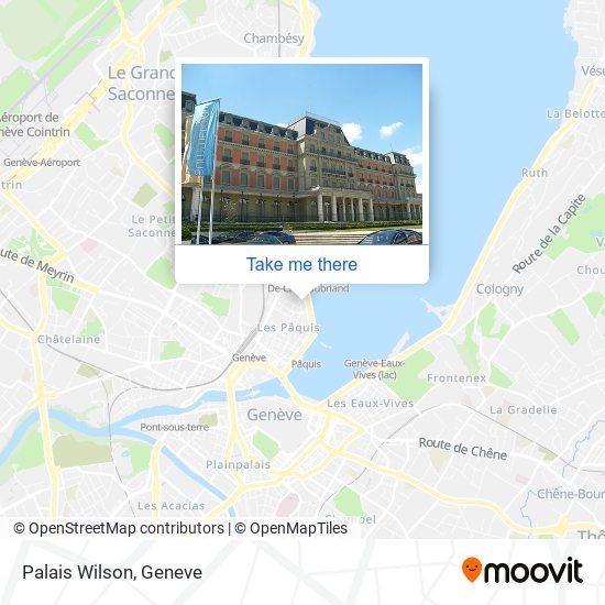 Palais Wilson map