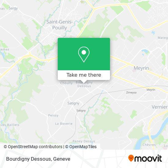 Bourdigny Dessous map