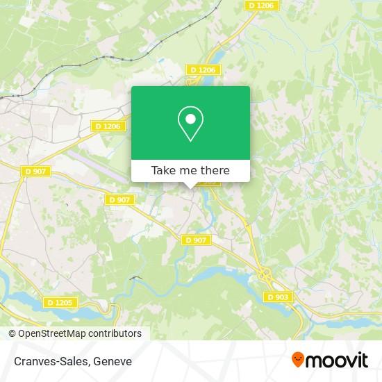 Cranves-Sales map