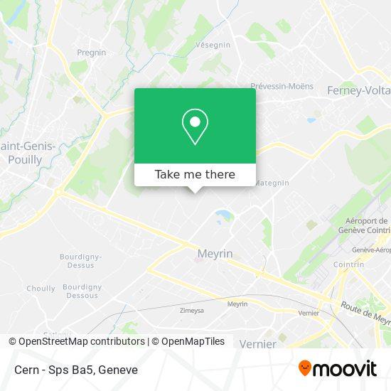 Cern - Sps Ba5 map