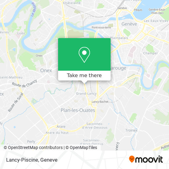 Piscine De Lancy map
