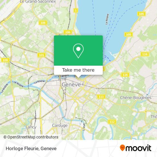 Horloge Fleurie map