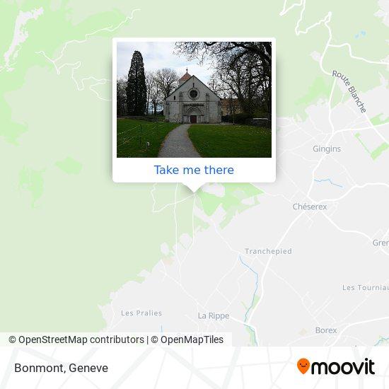 Bonmont Karte