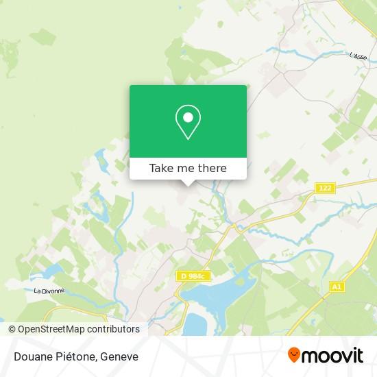 Douane Piétone Karte