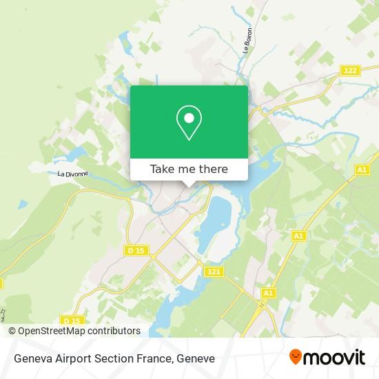 Geneva Airport Section France Karte