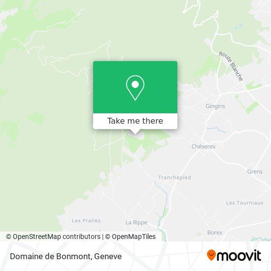 Domaine de Bonmont Karte