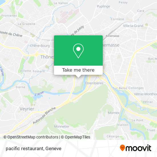 Mappa pacific restaurant