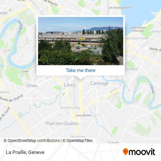 La Praille map