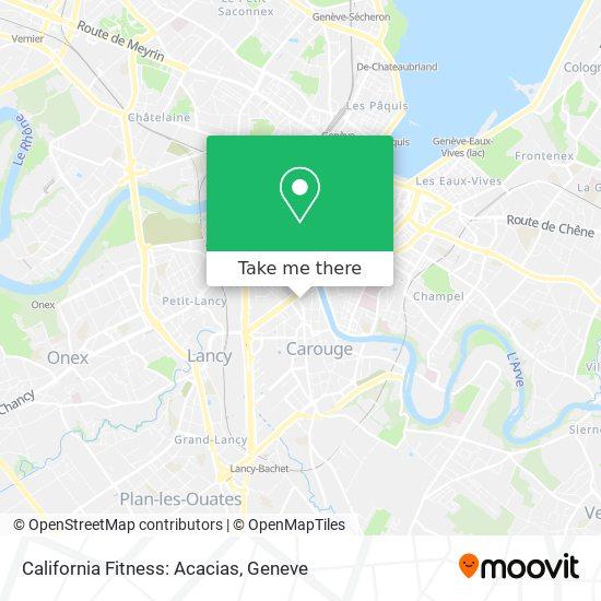 California Fitness: Acacias map