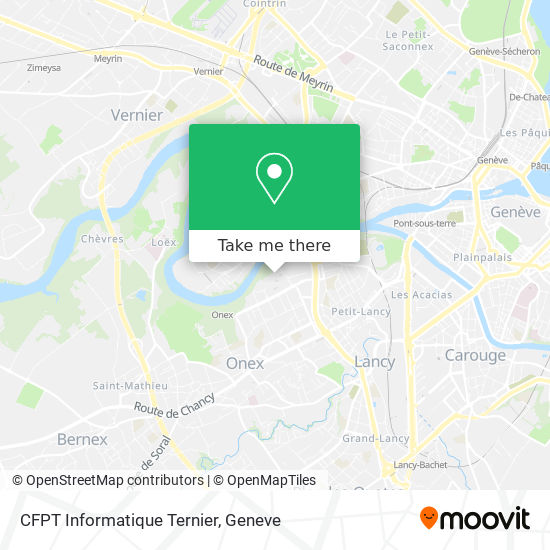 CFPT Informatique Ternier map
