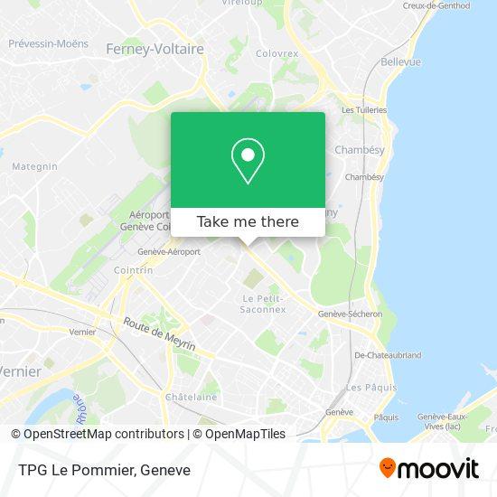 TPG Le Pommier map