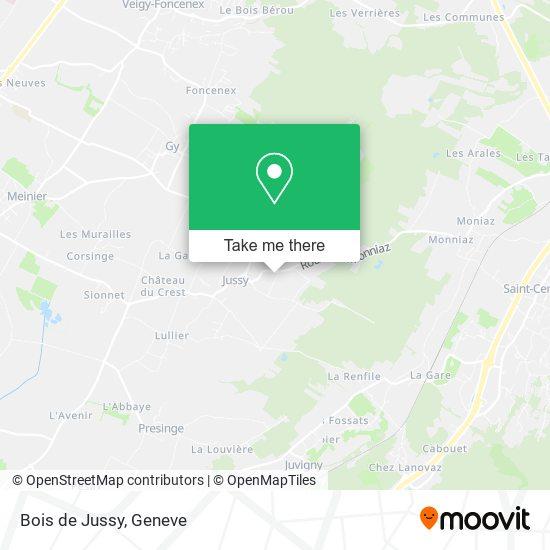 Bois de Jussy map