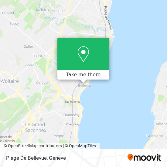 Plage De Bellevue map