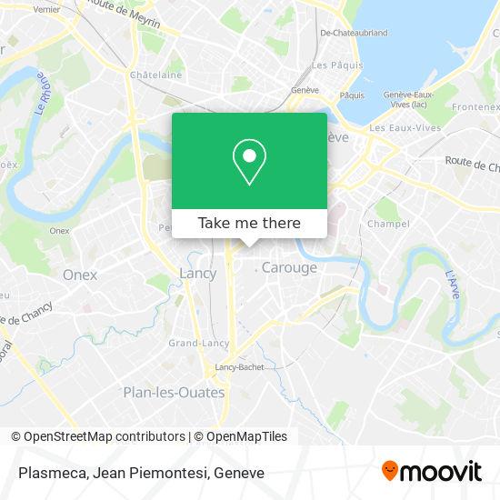 Plasmeca, Jean Piemontesi map