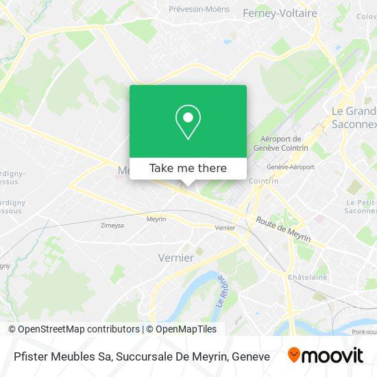 Pfister Meubles Sa, Succursale De Meyrin map