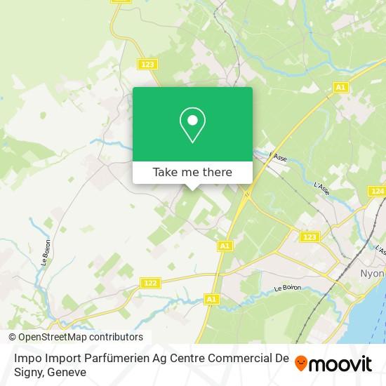 Impo Import Parfümerien Ag Centre Commercial De Signy map