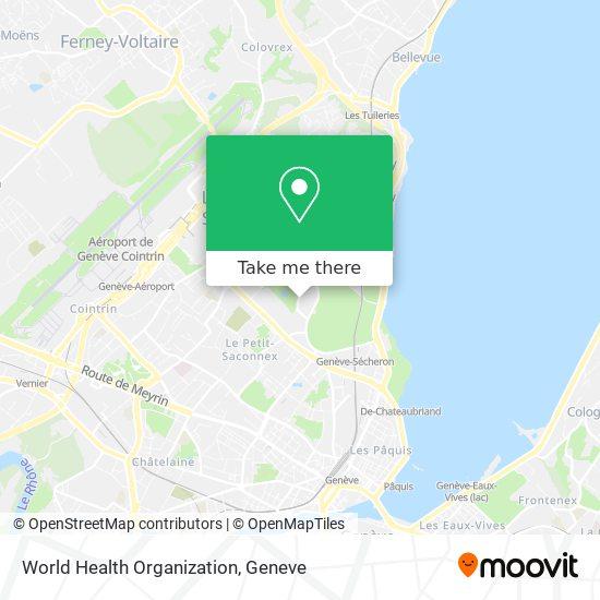 World Health Organization map