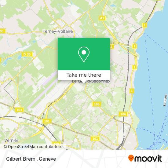 Gilbert Bremi map