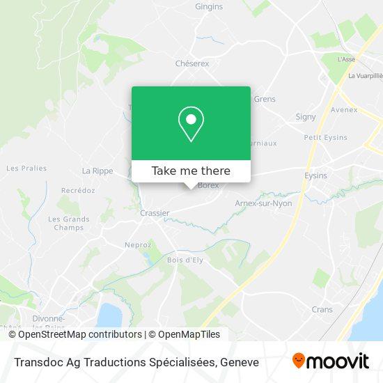 Transdoc Ag Traductions Spécialisées Karte