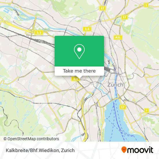 Kalkbreite/Bhf.Wiedikon map