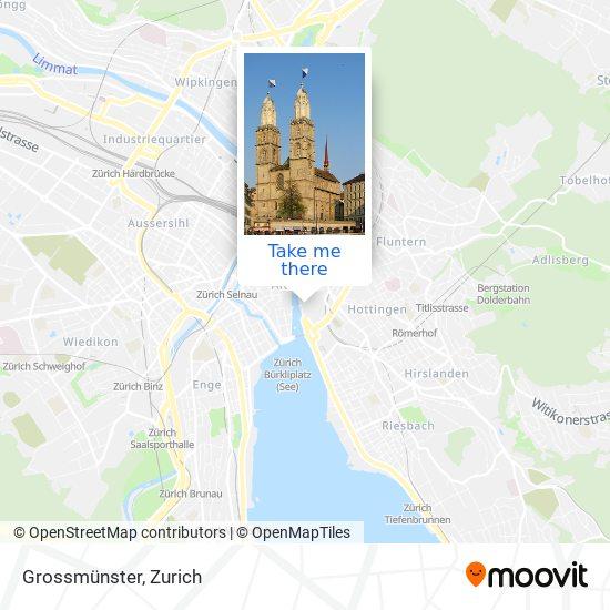 Grossmünster map